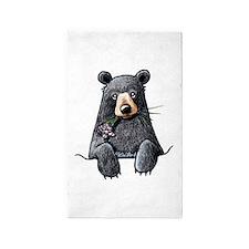 Pocket Black Bear 3'x5' Area Rug