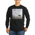 Polish Shortface Pigeon Long Sleeve Dark T-Shirt