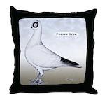 Polish Shortface Pigeon Throw Pillow