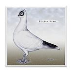 Polish Shortface Pigeon Tile Coaster