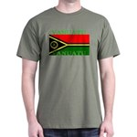 Vanuatu Vanuatuan Flag Military Green T-Shirt