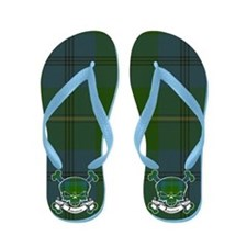 Johnston Tartan Skull Flip Flops