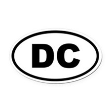 District of Columbia DC Oval Car Magnet