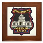 Jefferson City PD Framed Tile