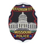 Jefferson City PD Oval Ornament