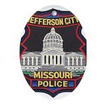 Jefferson City PD Oval Ornament