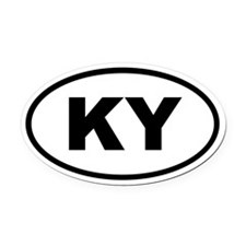 Kentucky KY Oval Car Magnet