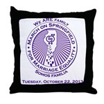 March on Springfield Purple Main Logo Throw Pillow
