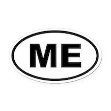 Maine ME Oval Car Magnet