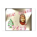 Postcards (Pack.of 8) Peru Christmas motif Chullo