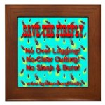 Save The Firefly No Over Logg Framed Tile