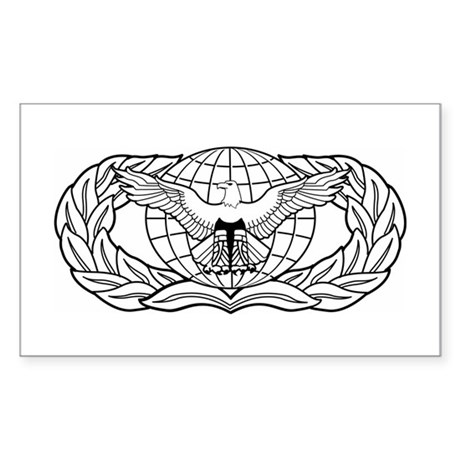 Force Protection Badge Rectangle Sticker