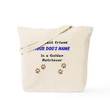Custom Golden Retriever Best Friend Tote Bag