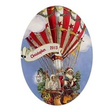Personalized Santa Hot Air Balloon Ornament