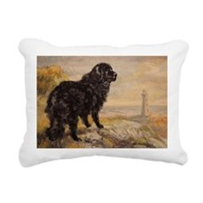 Newfoundland Dog Rectangular Canvas Pillow