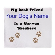 Custom German Shepherd Best Friend Throw Blanket
