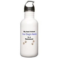Custom Dachshund Best Friend Water Bottle