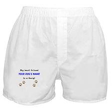 Custom Corgi Best Friend Boxer Shorts