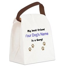 Custom Corgi Best Friend Canvas Lunch Bag
