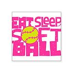 Eat, Sleep, Softball - Pink Sticker