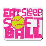 Eat, Sleep, Softball - Pink Mousepad