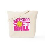 Eat, Sleep, Softball - Pink Tote Bag