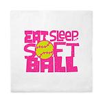 Eat, Sleep, Softball - Pink Queen Duvet