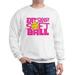 Eat, Sleep, Softball - Pink Sweatshirt