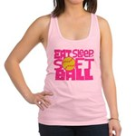Eat, Sleep, Softball - Pink Racerback Tank Top
