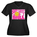 Eat, Sleep, Softball - Pink Plus Size T-Shirt