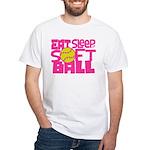 Eat, Sleep, Softball - Pink T-Shirt