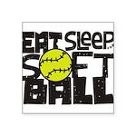 EAT, SLEEP, SOFTBALL - Black Sticker
