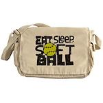 EAT, SLEEP, SOFTBALL - Black Messenger Bag