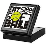 EAT, SLEEP, SOFTBALL - Black Keepsake Box