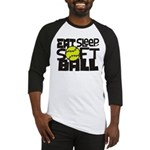 EAT, SLEEP, SOFTBALL - Black Baseball Jersey