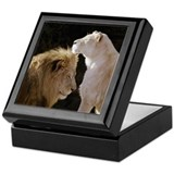 Lion and Lioness Yin Yang Keepsake Box