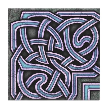 Celtic Border A Tile Blue, Corner Section