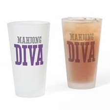 Mahjong DIVA Drinking Glass