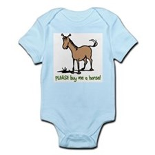 Buy me a horse saying Infant Bodysuit