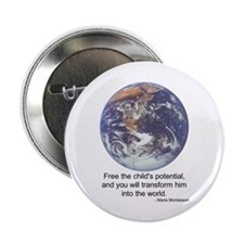 "Montessori World - Potential 2.25"" Button (100 pac"