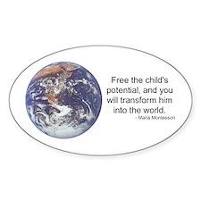 Montessori World - Potential Oval Decal