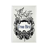 FREE BIRD Rectangle Magnet