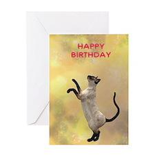 Cat playing birthday card Greeting Card
