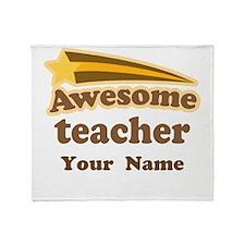 Personalized Teacher Throw Blanket