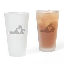 Heart Virginia Drinking Glass