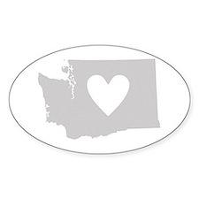 Heart Washington Decal