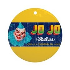 Melons Fruit Crate Label Ornament (Round)