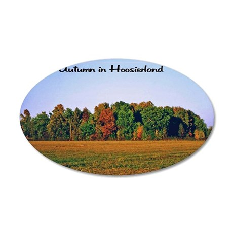Autumn in the Heartland 35x21 Oval Wall Decal