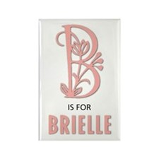 """B"" is for Brielle Rectangle Magnet"