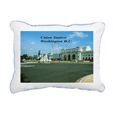 Union Station Rectangular Canvas Pillow